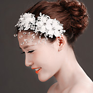 Women's Lace/Rhinestone/Crystal/Tulle/Brass Headpiece - Wedding/Special Occasion Headbands/Flowers 1 Piece