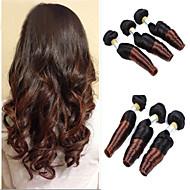 """3st / lot 8 """"-24"""" brasilianska jungfru hår, färg 1b / 30 Funmi hår, ombre hårförlängningar, fabriken grossistförsäljning hårknippena."""