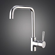 Kitchen Faucet Transitional Pullout Spray Brass Chrome