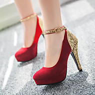 Women's Shoes Faux Suede Stiletto Heel Heels/Platform/Novelty/Closed Toe Pumps/Heels Party & Evening/Dress/Casual