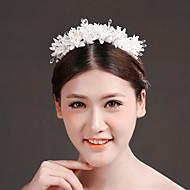 Women's Crystal/Brass/Imitation Pearl/Chiffon Headpiece - Wedding/Special Occasion Flowers 1 Piece