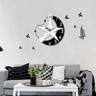 Современный угол стиль звезды луны зеркало настенные часы