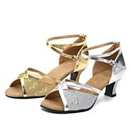 Sapatos de Dança ( Prateado/Dourado ) - Mulheres - Não Personalizável - Latim