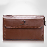 Men Cowhide Formal / Casual / Event/Party / Shopping / Office & Career Clutch / Evening Bag Brown / Black