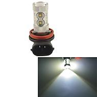 carking ™ h8 / h11 50w 10smd 2800 ml 6000k luz blanca llevó niebla bombilla de la conducción de la lámpara cabezal de la lámpara (12v dc)