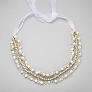 Women's/Flower Girl's Rhinestone/Alloy/Imitation Pearl Headpiece - Wedding/Special Occasion Headbands 1 Piece