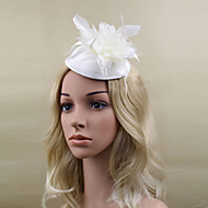 Women Satin/Feather Elegant Flowers/Hats With Wedding/Party Headpiece(More Colors)
