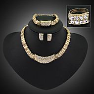 Women Vintage/Party/Work/Casual Alloy/Gemstone & Crystal/Cubic Zirconia Necklace/Earrings/Bracelet/Ring Sets