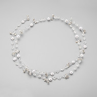 Women's / Flower Girl's Rhinestone / Alloy / Imitation Pearl Headpiece-Wedding / Special Occasion Headbands 1 Piece White Round