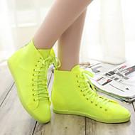 Chaussures Femme - Décontracté - Jaune / Rose / Violet / Blanc - Talon Plat - Confort / Bout Arrondi / Bout Fermé - Baskets à la Mode -