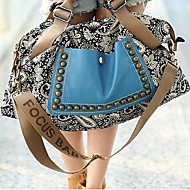 Women 's Canvas Sling Bag Shoulder Bag - Blue