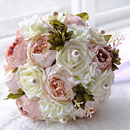 Bouquet - Rose - Multicolore - di Satin/Perline/Schiuma/Poliestere