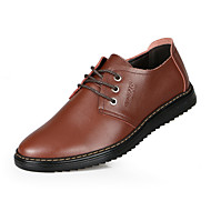 Men's Shoes Outdoor Leather Oxfords Black/Brown