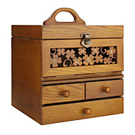 Vintage Modern Wood Jewelry Box With Cabinet Armoire Ring Necklacel Gift Display Box Organizer MG003