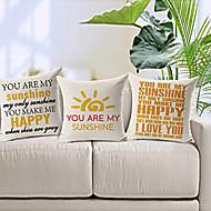 """uppsättning av 3 """"du är mitt solsken"""" bomull / linne dekorativa örngott"""