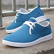 Men's Shoes Casual Tulle Comfort Fashion Sneakers Blue/Gray