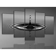 handbemalte abstrakte grau Wassertropfen Ölgemälde auf Segeltuch 5pcs / ohne Rahmen gesetzt