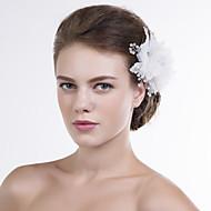Women Organza Flowers With Imitation Pearl Wedding/Party Headpiece