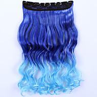 24inch 60 centimetri 120g fermaglio grils 'delle donne nelle estensioni dei capelli pezzi di capelli sintetici Ombre clou stile