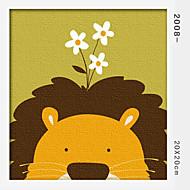 peinture à l'huile numérique bricolage en bois massif avec la peinture de plaisir en famille de cadre tout seul lion 2008