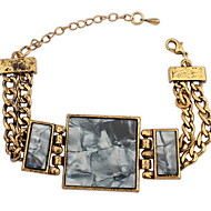 Women's European and American Fashion Alloy Chain With Multi-stone Bracelet