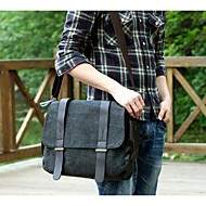 Men Canvas Casual Shoulder Bag Green / Brown / Gray