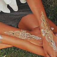 1PC Gold and Silver Necklace Bracelet Tattoos Temporary Tattoos Sticker Cuticle Tattoos Flash Tattoos Party Tattoos