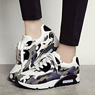 Scarpe Donna Poliestere/Tessuto Zeppa Comoda/Punta arrotondata/Chiusa Sneakers alla moda Tempo libero/Casual Nero/Rosa