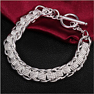 Unisex Silver Chain With Non Stone Bracelet