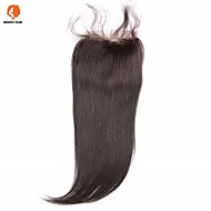 Natural Black U Part Straight Human Hair Closure Medium Brown Chinese Lace gram Average Cap Size