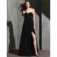 TS Couture® Formal Evening Dress Plus Size / Petite Sheath / Column One Shoulder Floor-length Spandex with Beading