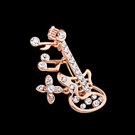 Women's Alloy Guitar Shape Casual/Party Brooches & Pins With Rhinestone