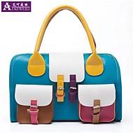 aikeweili®women kézitáska divat színes blokkoló pu bőr göngyölegeket válltáska koreai kedves hölgy stílusa crossbody táska