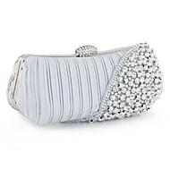 Handbag Silk Evening Handbags/Clutches/Mini-Bags/Wallets & Accessories With Imitation Pearl/Metal