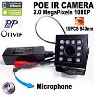 1080P Audio POE Mini IR Camera Smallest 10PCS 940nm LED Night Vision Mini Ip Camera Covert Network Onvif with Microphone