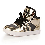 Girls' Shoes Casual Comfort/Round Toe/Closed Toe Leather Fashion Sneakers Blue/Red/Gold
