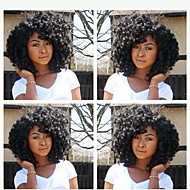 em stock 10-28inch densidade 130% encaracolado Kinky cor natural de 100% brasileira peruca de cabelo humano perucas do laço completo
