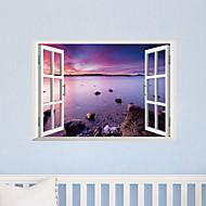 3d samolepky na zeď Lepicí obrazy na stěnu ve stylu tvůrčím purpurové plážové PVC samolepky na zeď