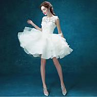 Abito da sposa-Linea-A Con decorazione gioiello Corto/mini Organza / Tulle