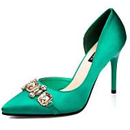 Women's Shoes Silk Stiletto Heel Heels Pumps/Heels Dress/Casual Black/Green/Pink/Gray/Burgundy
