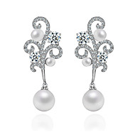 Brand New Arrival Luxury Wedding Dinner Party Jewelry AAA Cubic Zirconia  PPearl Earring