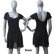 여성용/아동용 - 발레/퍼포먼스 - 드레스 ( 블랙/라이트 퍼플/레드/로얄 블루/화이트/옐로우/딥 핑크 , 쉬폰/면/라이크라