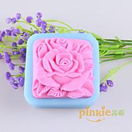 Flower Shaped Soap Molds Mooncake Mould Fondant Cake Chocolate Silicone Mold, Decoration Tools Bakeware