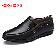 Aokang Men's Shoes Outdoor/Office & Career/Casual Leather Loafers Black/Brown/Yellow