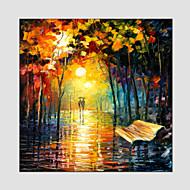 Dipinta a mano Paesaggi astrattiModern / Stile europeo Un Pannello Tela Hang-Dipinto ad olio For Decorazioni per la casa