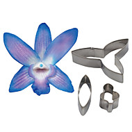 FOUR-C Dendrobium Orchid Petal Flower Cutter, Cake Decorating Tools Fondant Mold Cutter Cookie Accessories Tools