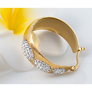 Women's Fashion Gold Plated Stainless Steel Earring with Rhinestone