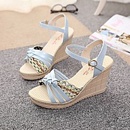 2015 New Fashion Hot Sale Women's Shoes Wedge Heel Peep Toe Sandals Dress White/Black/Pink/Blue