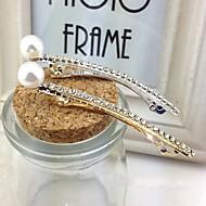 Dame Rhinestone/Imitert Perle Headpiece Bryllup/Spesiell Leilighet Barette Bryllup/Spesiell Leilighet 1 Deler