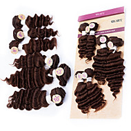 """EVET New Style Virgin Malaysian Remy Hair Bundles Deep Wave Weave Extensions #4 Color 4x8"""" 1x10"""" 1x12"""" 200g/lot"""